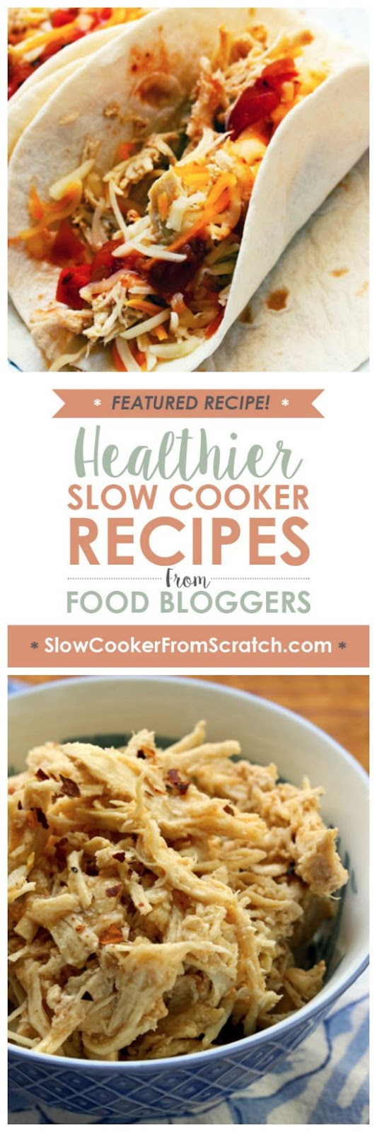 Slow Cooker Shredded Barbecue Chicken from The Perfect Pantry featured on SlowCookerFromScratch.com