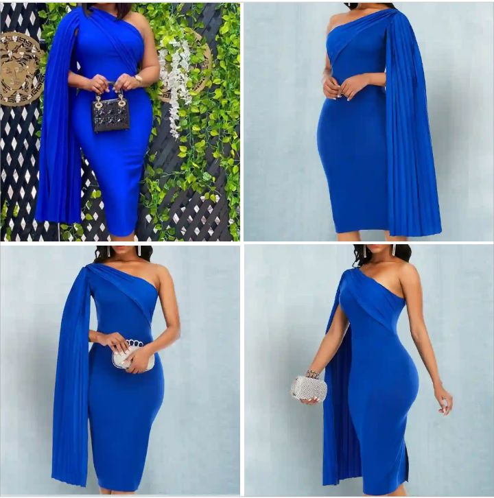 Aomei Women's Party Dress: Casual Off-Shoulder Pleated Body-Fitted Dress for Ladies - Elegant Female Bodycon Kneel-Length Wear