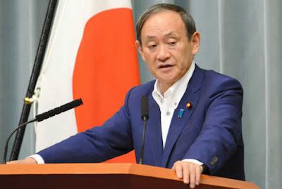 Secretário-chefe do Gabinete japonês, Yoshihide Suga