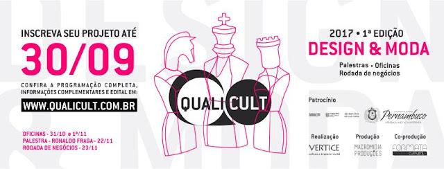 Qualicult vai oferecer oficina gratuita para produtores culturais de projetos de moda e design
