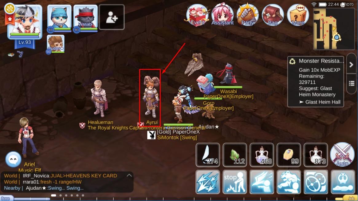 Reset status dan reset skill Ragnarok Eternal Love