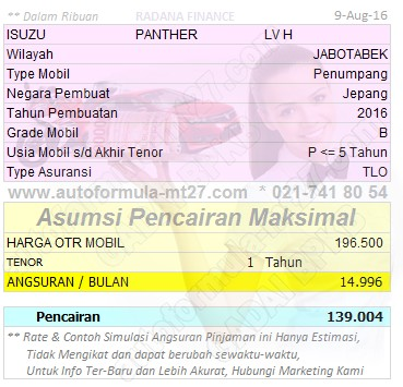 139-1Thn-ISUZU-PANTHER-LV H