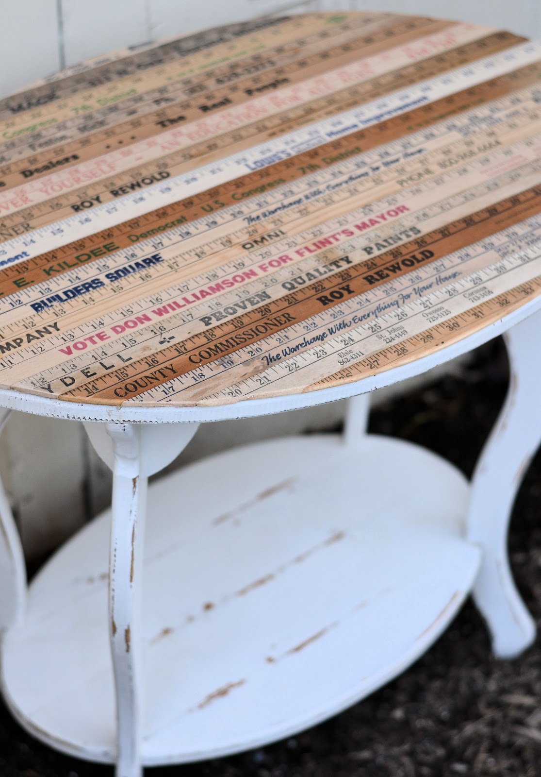 Shabby Love Yardstick Table