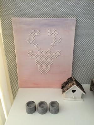 Voegkruisjes schilderij