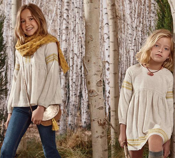Blusas otoño invierno 2018 para niñas. Vestidos otoño invierno 2018. Ropa para niñas otoño invierno 2018.