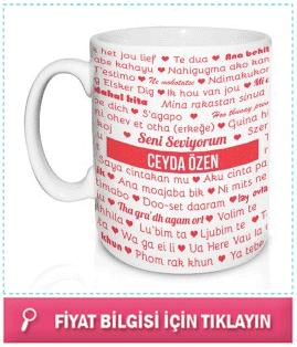 sevgiliye 100 dilde seni seviyorum kupa bardak