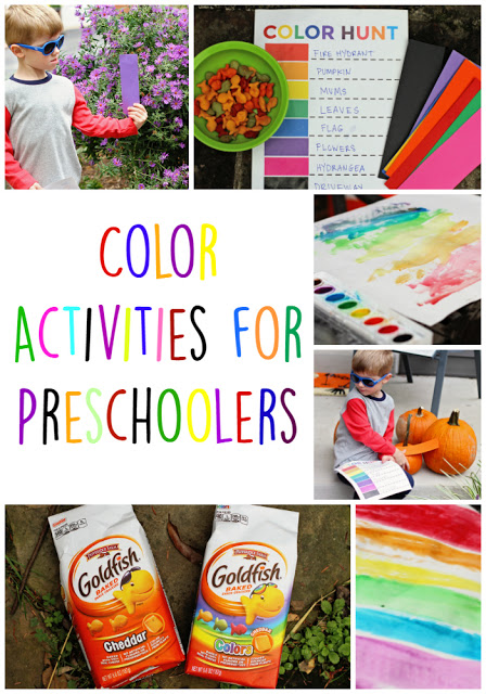 Color Activities for Preschoolers & Color Hunt Printable