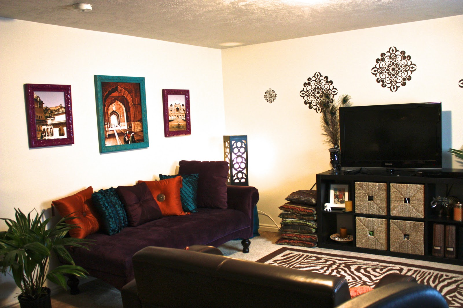 Living room decorating with two couches living room for Living room ideas indian style