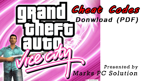 GTA Vice City Cheat Codes (PDF)