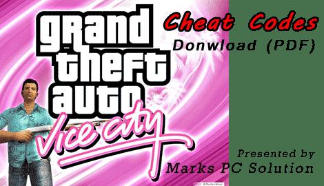 Summary -> Gta Gta Vice City Computer Cheats
