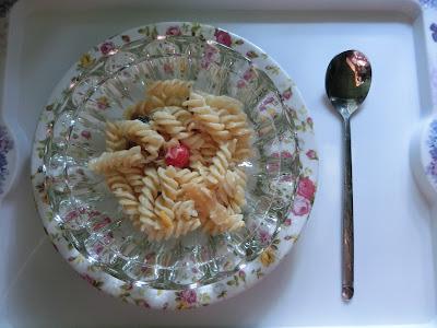 Fruity cold pasta dessert recipe