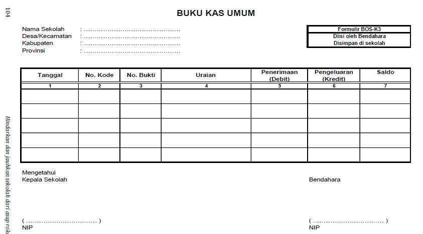format buku kas umum bos k3