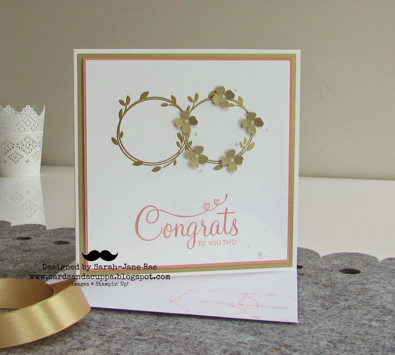 Wedding Cards Ideas To Make: Sarah-Jane Rae Cardsandacuppa: Stampin' Up! UK Order