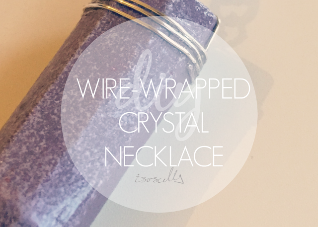 DIY Wire-wrapped crystal necklace header