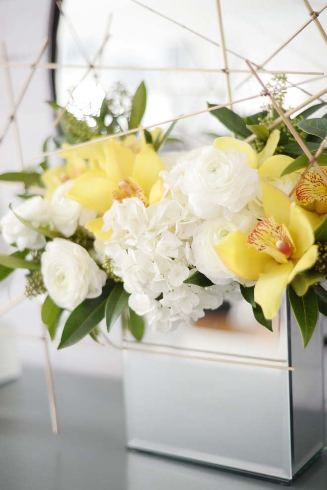 Wayfair Winter Refresh | Fresh Florals orchid hydrangea ranunculus reed | RamblingRenovators.ca