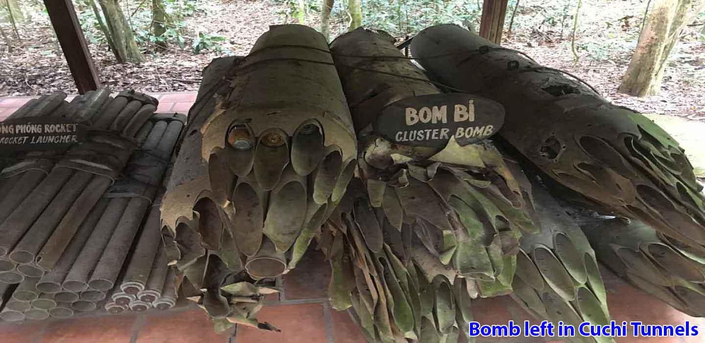 Cuchi-tunnels-tour-Bomb-left-in-Cuchi-Tunnels