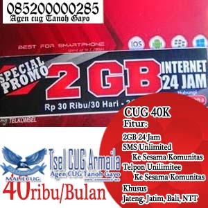 Cara Daftar CUG Telkomsel Data Internet 2GB + Nelpon SMS Unlimited 40 Ribu Perbulan