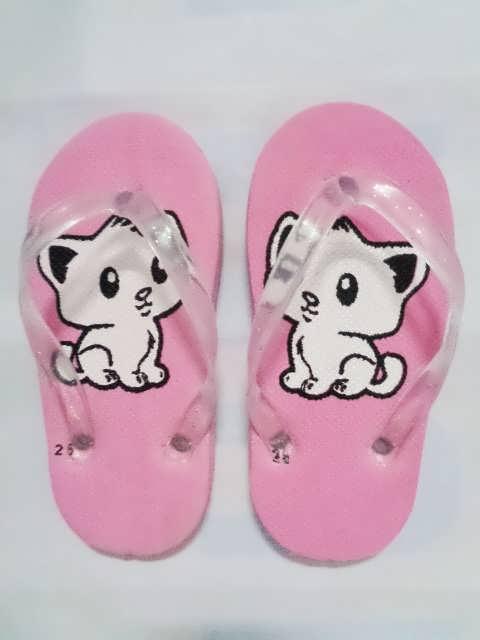 sandal anak kucing pink