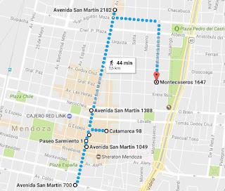 Leste da Cidade de Mendoza (Google Maps)