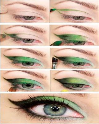 maquillaje de ojos verde tumblr paso a paso de moda