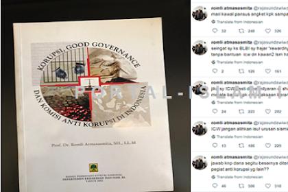 Nah lho! Prof Romli: Pansus Angket KPK, Bongkar dan Usut Tuntas Dana Hibah KPK ke ICW!