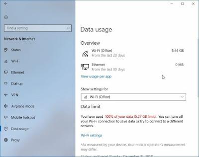 Mengatur limit penggunaan data wifi di windows 10-a