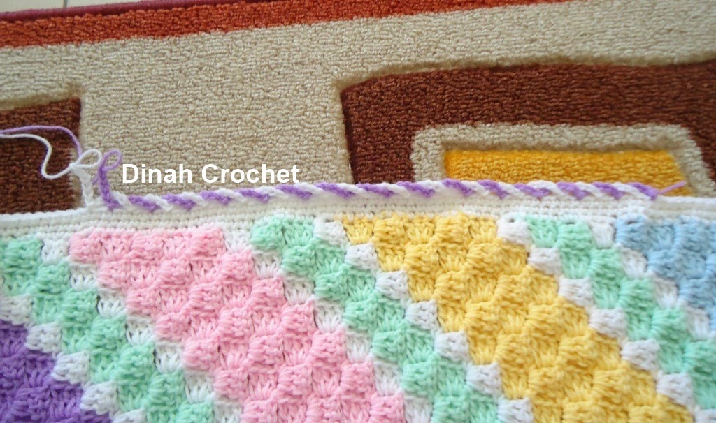 Crochet Baby Blanket Edging Tutorial : Dinah Crochet: C2C baby blanket