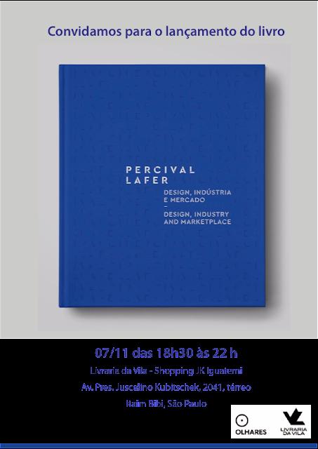 Convite para o lançamento do livro sobre Percival Lafer
