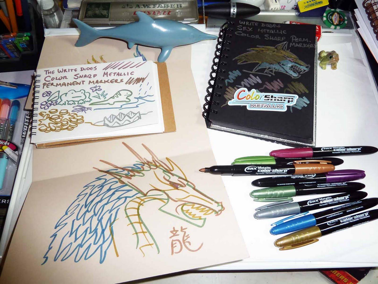 Permanent Sketch Book: Kid Sketches: Mega Brands The Write Dudes Super Gel