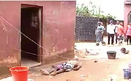 See Sad Moment Security Guard Was Electrocuted In Edo State (Photo)