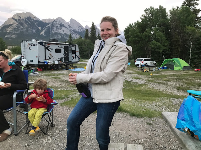 Calvacade Group Camping in the Kootenay Plains, Alberta