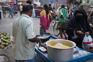Pedagang Kaki Lima, New Market India