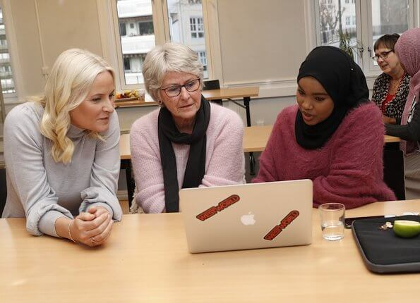 Crown Princess Mette-Marit visited the Fellesverket (Red Cross Youth Activity Centre) in Sandvika