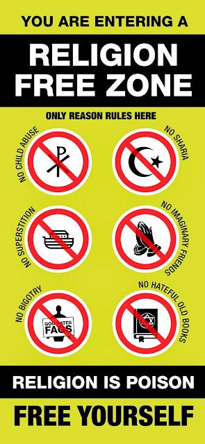 Religion Free Zone Atheist Meme Picture
