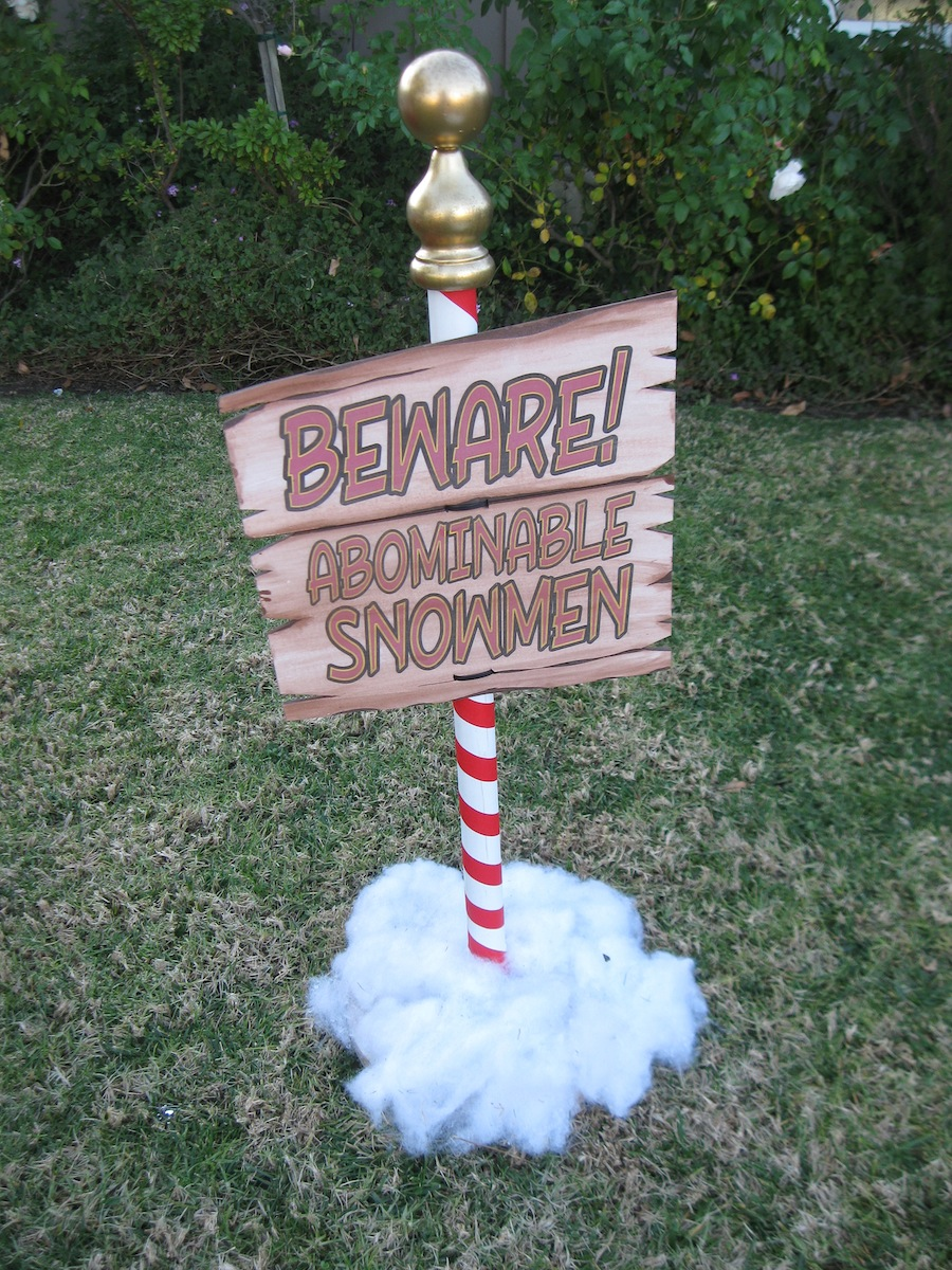 DAVE LOWE DESIGN the Blog: Sign of Abominable Snowmen