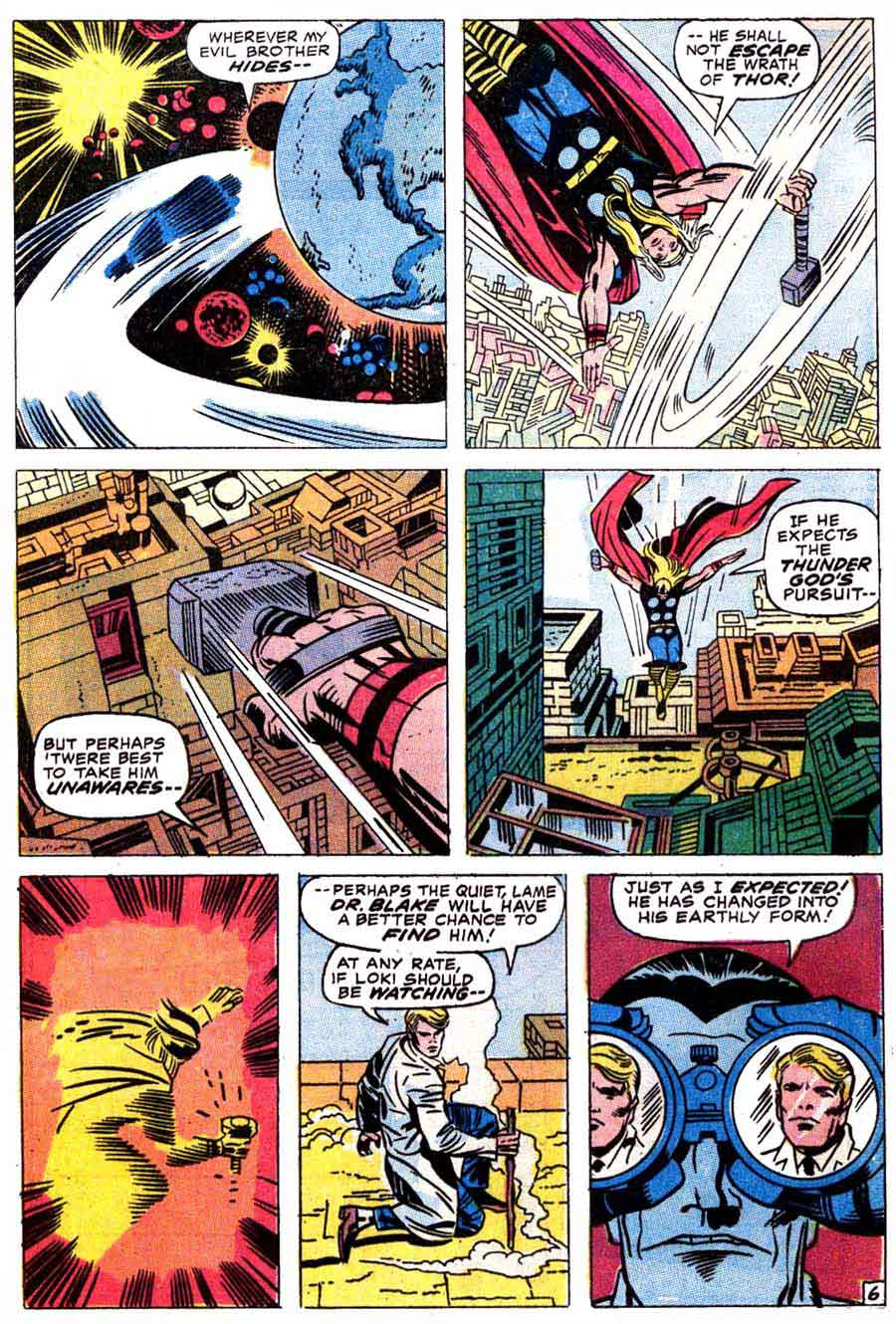 Thor v1 #179 marvel comic book page art by Jack Kirby