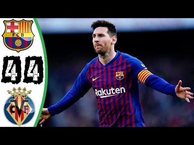 Villarreal vs Barcelona 4-4 Football Highlights and Goals 2019