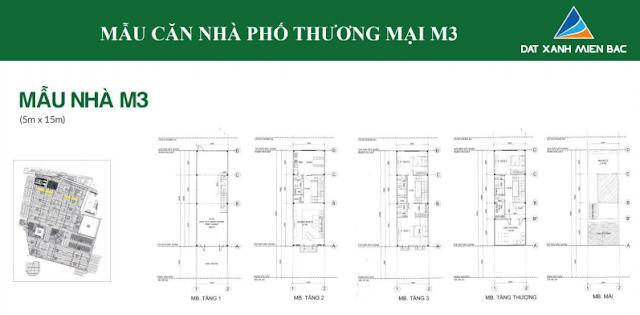 Hình ảnh thiết kế mẫu nhà M3 thuộc dự án Uông Bí New City(5m x 15m)