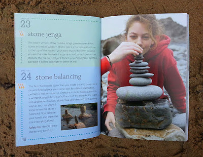 The Beach Book stone balancing activities for children