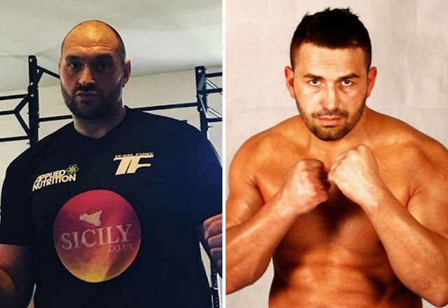Tyson Fury against Albanian boxer Sefer Seferi on June 9
