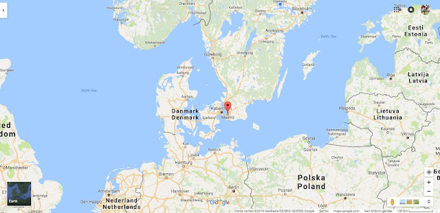 Malmö İsveç Google Haritalar