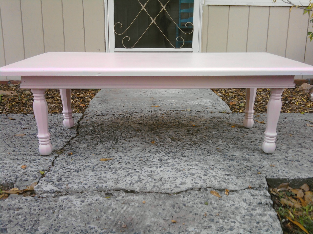 A New Leaf Furniture: Pink Coffee Table - Sold!