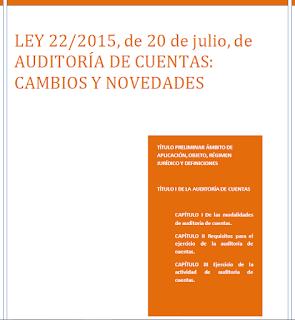 Ley de Auditoría de cuentas cambios y novedades
