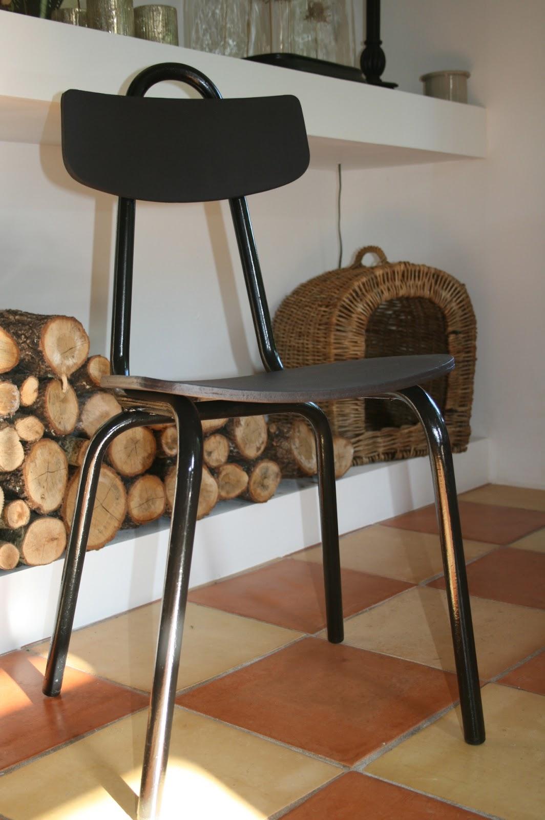 c 39 est la re cr ation vintage scolaire vintage coup de c ur 1 chaise j hitier milieu xx. Black Bedroom Furniture Sets. Home Design Ideas
