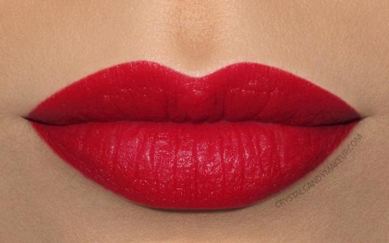 Clarins Joli Rouge Velvet Lipstick Swatch 742v joli rouge