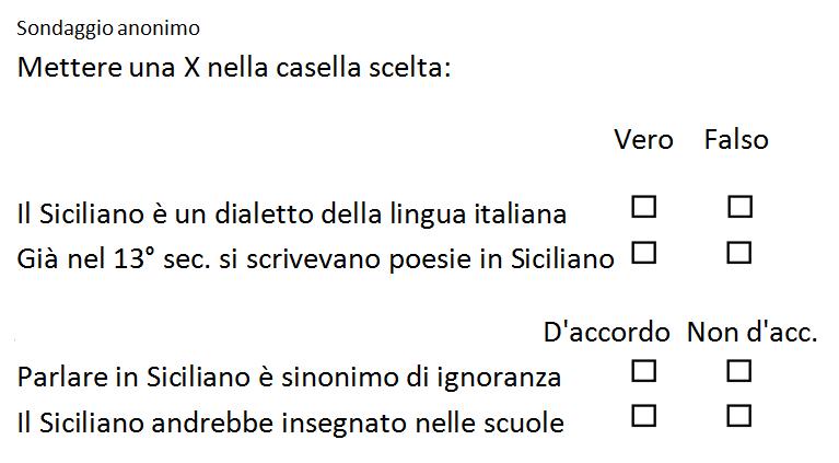 Poesie Di Natale In Dialetto Siciliano.Palingenesi Mini Sondaggio A Palermo Sulla Lingua Siciliana
