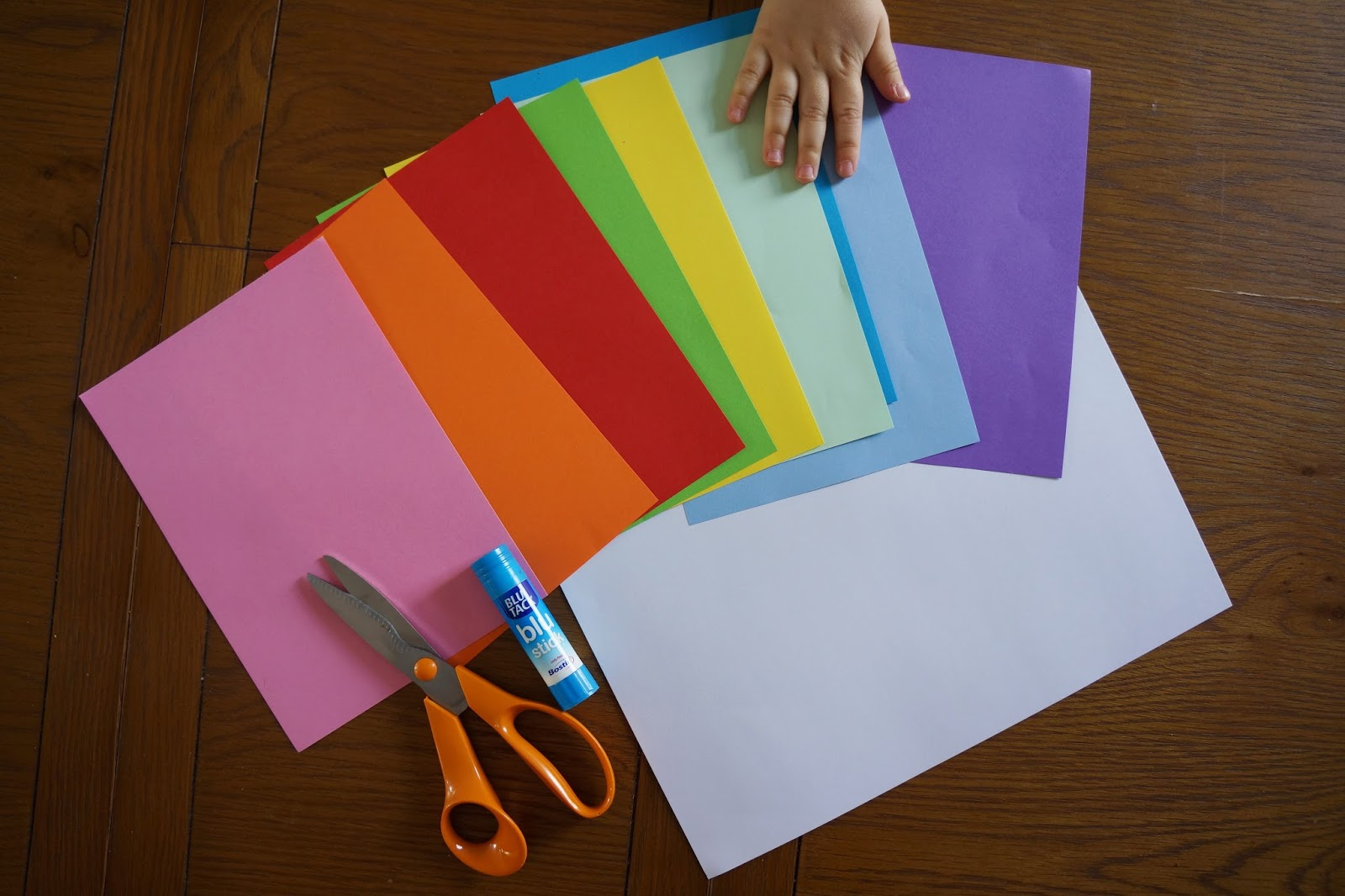 crafting paper and supplies for cards