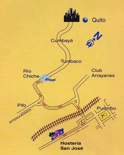 como llegar a la hosteria san jose Hoteles cercanos al nuevo Aeropuerto de Quito