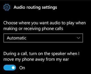 Audio routing settings