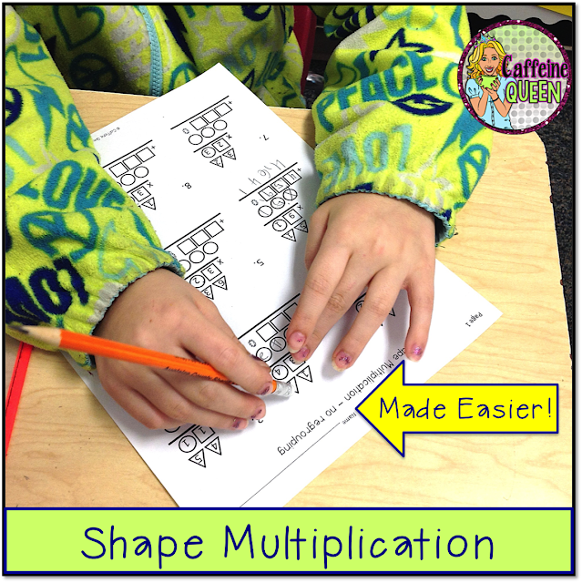 math remediation and special education students benefit from visuals - shapes and colors!